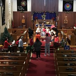 Rehearsing for the Christmas Pageant 2017