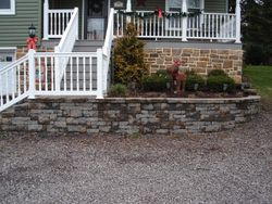 Retaining Wall and Stairs
