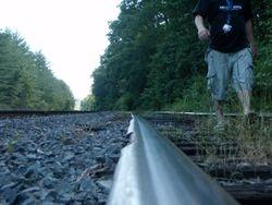 Josh on the tracks