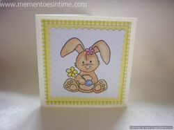 Stamped Bunny Card