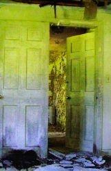 Half open doorway