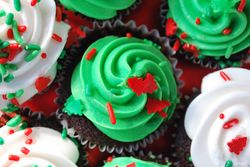 Christmas cupcake treats