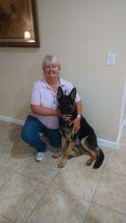 Rex and Trainer Liz