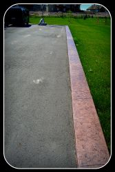 Curb Along Driveway