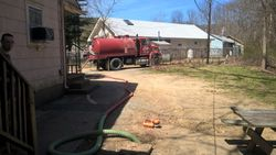 Pumping out a cottage