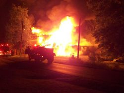 Folsom-Jonesville Rd house fire