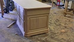 DESK WITH TOP AND FILE DRAWERS