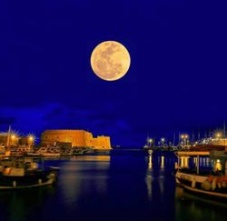 Heraclion Crete Full Moon