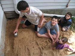 Children playing in sand