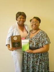 Author Kia Stokes & Club President
