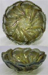Acanthus deep round bowl, smoke
