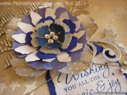 Gift Topper Blue and Silver