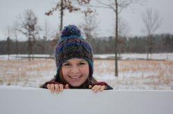 Pretty girl in the snow!