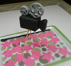 Gumpaste Camera and Walk of Fame Stars