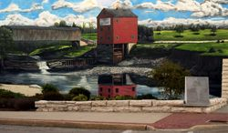 Grahams Mill Bridge Mural