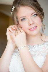 Elegant updo and Natural Soft Airbrushed Makeup for our beautiful bride Lucy