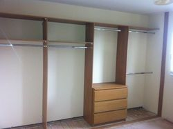 Oak wardrobe interior
