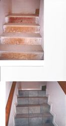 Tile Stairs: BEFORE & AFTER.