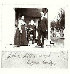 John, Libbie and Ezra Ealy