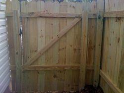 Back side of gate