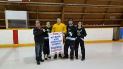 The Stars accept Championship banner.