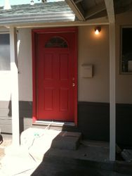 House painting - Red door