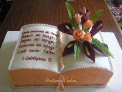 Bible Shaped wedding Cake (W039)