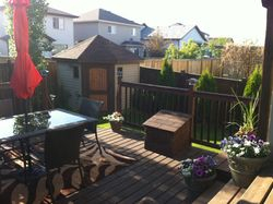 DECK AND SHED COMBO