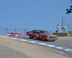 1971 Chevrolet Monte Carlo enters the Corkscrew