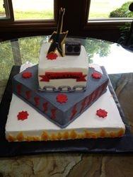 Heavy Metal Graduation Cake