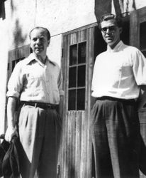 Prins Sigvard och Carl-Johan 1954