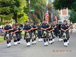 Waterbury PD Pipes and Drums Thomaston Parade 2013