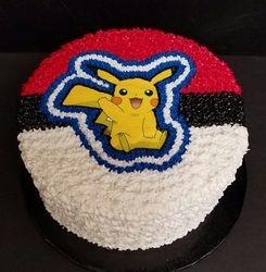 Pikachu/Pokeball Cake