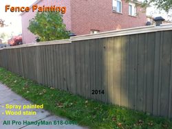 Spray painted fence. Quicky job.