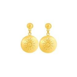 Aretes de colgar redondos - Precolumbian round dangling earrings