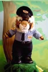 Tiger in police uniform - display only