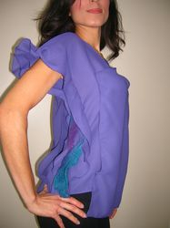 Purple Ruffles Blouse $25