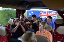 Sing-a-long on the bus