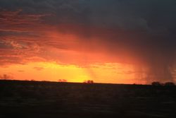 Sunset from The Ghan Train
