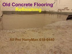 Restoration of old concrete floor