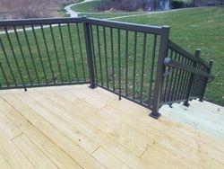 Treated Deck with Aluminum Handrail