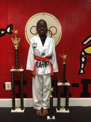 05/16/2015 S. Pavlou TKD Championships  Cedric Zamor  3rd Place Forms  4th Place Breaking  2nd Place Sparring