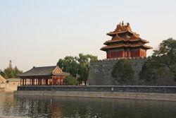 Moat and walls of Forbidden City in Beijing