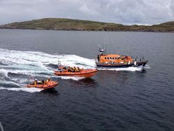 Clifden RNLI All-Weather and Inshore Lifeboats