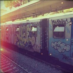Metro train, Rome
