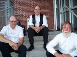 Harvey, Bob and Henry at the old train station in Roanoke