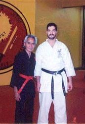 A young Sensei Morales with the late Professor Vee