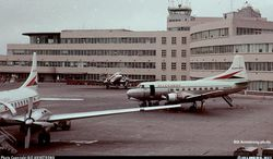 N93201 at the Pittsburg International airport April 1961. Photo Credit Bill Armstrong.