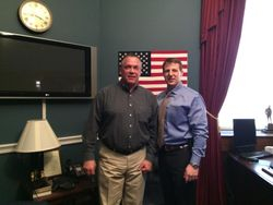 Bobby with Congressman Mullin