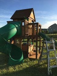 Backyard discovery cedar cove swing set assembly in leesburg Virginia